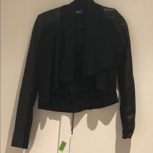 Alice and Olivia wool and leather jacket